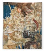 Study For The Coming Of The Americans , John Singer Sargent Fleece Blanket