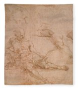 Study For The Figure Of Diogenes In The School Of Athens Fleece Blanket