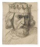 Study For The Head Of A Counsellor Fleece Blanket
