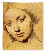 Study For Vicomtesse D Hausonville Born Louise Albertine De Broglie Fleece Blanket