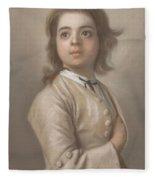 Study Of A Boy In Half Length, Jean-etienne Liotard, 1736 - 1738 Fleece Blanket