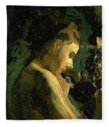 Study Of A Girl Head 1869 Fleece Blanket
