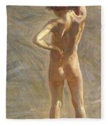 Study Of A Nude Boy Fleece Blanket
