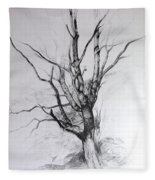 Study Of A Tree Fleece Blanket