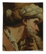 Study Of An Oriental Head Fleece Blanket