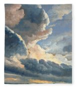 Study Of Clouds With A Sunset Near Rome Fleece Blanket