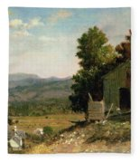 Study Of Old Barn In New Hampshire Fleece Blanket