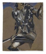 Study Of Perseus In Armour For The Finding Of Medusa Fleece Blanket
