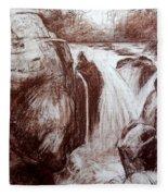 Study Of Rocks At Betws-y-coed Fleece Blanket