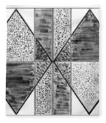Study Of Texture Line And Materials Fleece Blanket