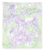 Study Purple And Green Fleece Blanket
