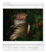 Stump And Frond Poster Fleece Blanket
