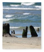 Stumpy Beach Fleece Blanket