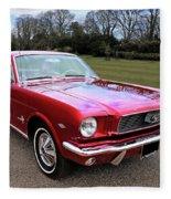 Stunning 1966 Metallic Red Mustang Fleece Blanket