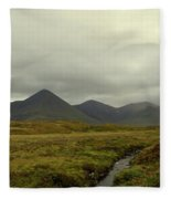 Stunning Countryside In Cuillen Hills With Large Mountains  Fleece Blanket