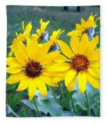 Stunning Wild Sunflowers Fleece Blanket