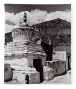 Stupa Fleece Blanket