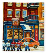 St.viateur Bagel Hockey Montreal Fleece Blanket