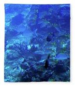Submarine Underwater View Fleece Blanket