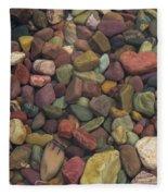 Submerged Lake Stones Fleece Blanket