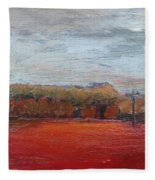 Suburb In October Fleece Blanket
