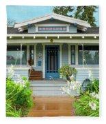 Suburban Arts And Crafts House Hayward California 8 Fleece Blanket