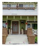 Suburban Arts And Crafts Style House Hayward California 15 Fleece Blanket