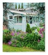 Suburban House Hayward, California 7, Suburbia Series Fleece Blanket