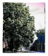 Suburban Tree Fleece Blanket