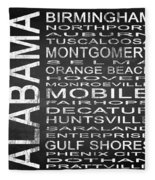 Subway Alabama State Square Fleece Blanket