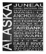 Subway Alaska State Square Fleece Blanket