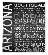 Subway Arizona State Square Fleece Blanket