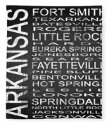 Subway Arkansas State Square Fleece Blanket