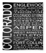 Subway Colorado State 2 Square Fleece Blanket