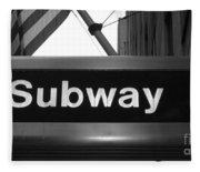 Subway Fleece Blanket