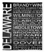 Subway Delaware State Square Fleece Blanket