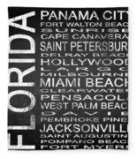 Subway Florida State Square Fleece Blanket