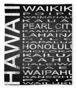 Subway Hawaii State Square Fleece Blanket