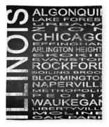 Subway Illinois State Square Fleece Blanket