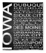 Subway Iowa State Square Fleece Blanket
