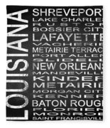 Subway Louisiana State Square Fleece Blanket