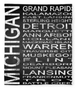 Subway Michigan State Square Fleece Blanket