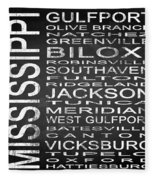 Subway Mississippi State Square Fleece Blanket