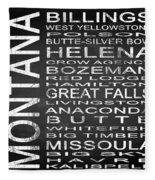 Subway Montana State Square Fleece Blanket