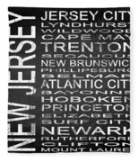 Subway New Jersey State Square Fleece Blanket