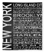 Subway New York State 3 Square Fleece Blanket