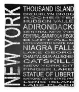 Subway New York State 4 Square Fleece Blanket