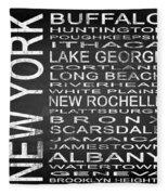 Subway New York State Square Fleece Blanket