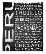 Subway Peru 2 Fleece Blanket