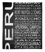 Subway Peru 3 Fleece Blanket